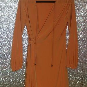 Ivanka Trump Orange Wrap Dress Size 4